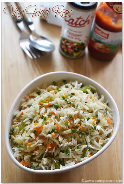Veg Fried Rice Recipe – Chinese Vegetable Fried Rice – How to make fried rice