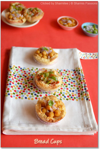 Bread Cup Pizza and Bread Channa Cups | Bread Cups