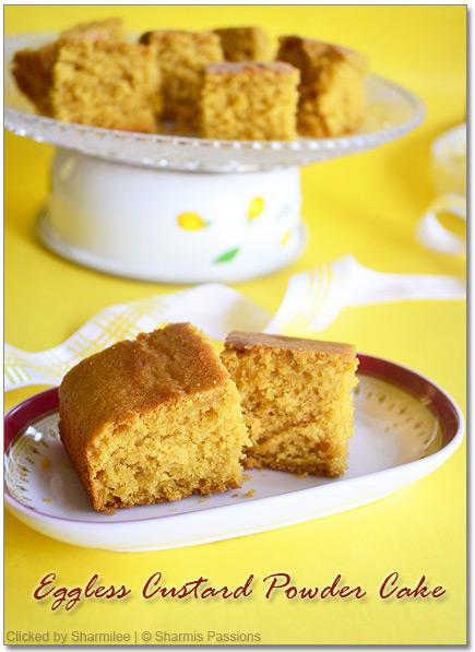 Eggless Custard Powder Snack Cake – Step by Step Recipe