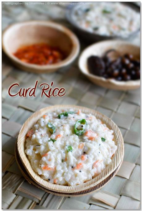 Curd Rice Recipe – Thayir Sadam Recipe