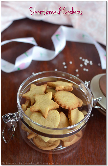 Shortbread Cookies Recipe – Easy Eggless Vanilla Cookies