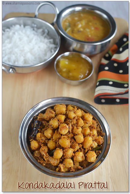 Kondakadalai Pirattal – Chana Dry Curry Recipe
