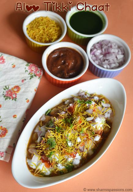 Aloo Tikki Chaat Recipe – Aloo Tikki Chole Dahi Chaat