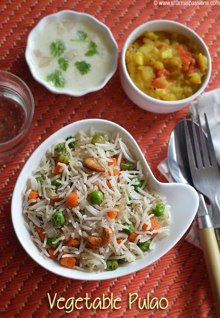 Vegetable Pulao Recipe – Veg Pulav Recipe – How to make veg pulao