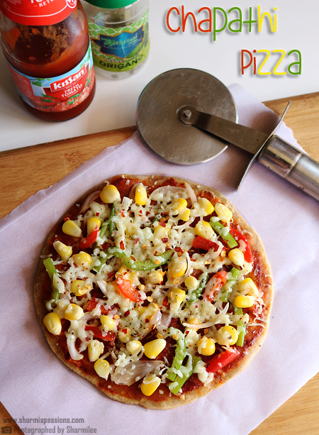 Chapati Pizza Recipe – Easy No Oven Pizza