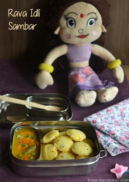 Mini Rava Idli Sambar – Kids Lunchbox Idea 39