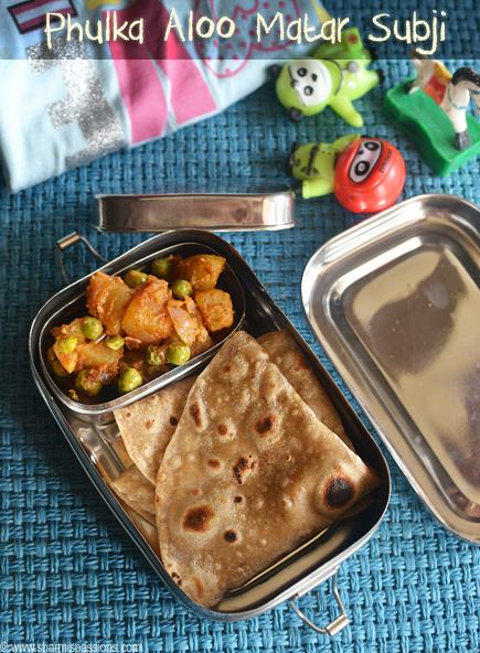Phulka Aloo Matar Sabji – Kids Lunchbox Idea 41