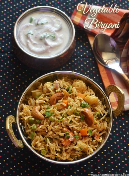 Vegetable Biryani Recipe – Veg Biryani Chettinad Style Recipe