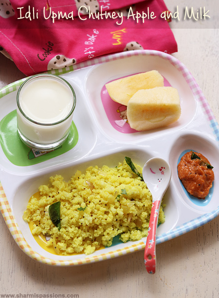 Kids Breakfast Idea 18 – Idli Upma and Onion Chutney