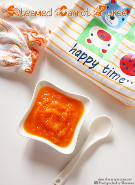 Carrot Puree Recipe / Steamed Carrot Puree for Babies