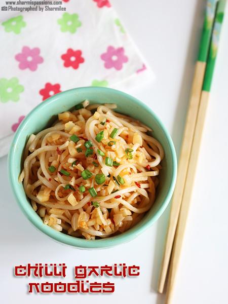 Chilli Garlic Noodles Recipe / Chinese Chilli Garlic Noodles