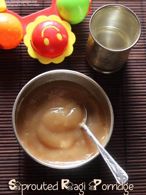 Ragi Porridge Recipe for Babies / Fingermillet Porridge Recipe