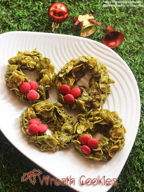 Christmas Cornflake Wreath Cookies Recipe