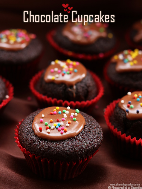 Eggless Chocolate Cupcake Recipe