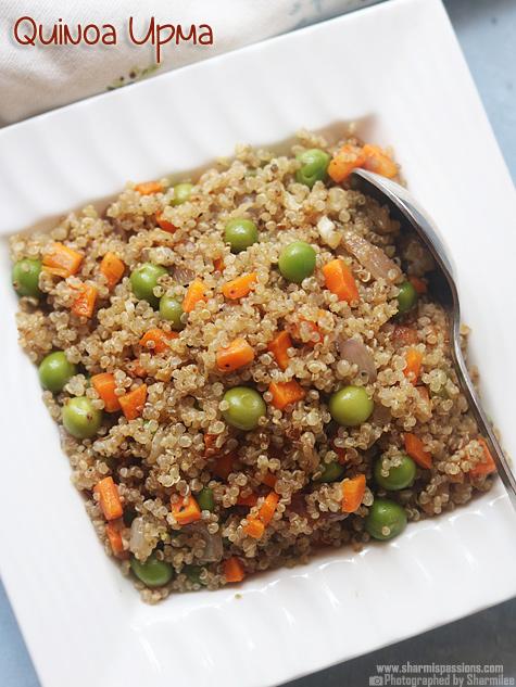 Quinoa upma recipe, How to make vegetable quinoa upma