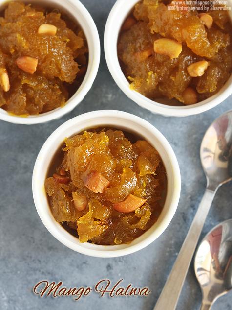 Mango halwa recipe, How to make mango halwa