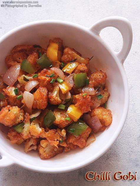 Chilli gobi recipe, How to make chilli gobi recipe