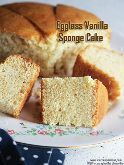 Eggless vanilla cake recipe-Vanilla cake recipe with condensed milk