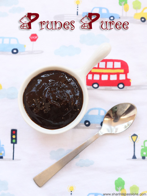 Prunes puree recipe, Prunes puree for babies