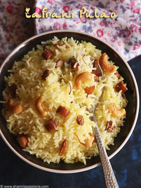 Zafrani pulao recipe, Saffron pulao recipe