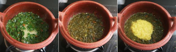 How to make murungai keerai kootu recipe - Step7