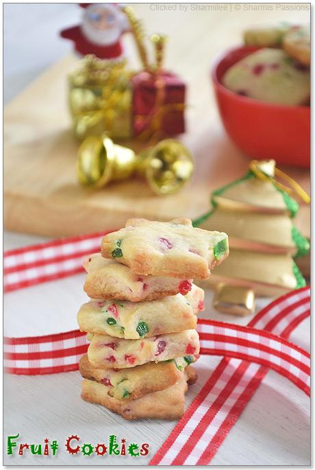 Eggless Fruit Cookies