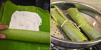 How to make ada in banana leaf for ada pradhaman - Step3