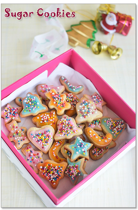 Eggless Sugar Cookies(with royal icing)