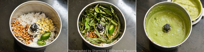 How to make curry leaves chutney - Step2