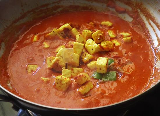 add paneer onion capsicum