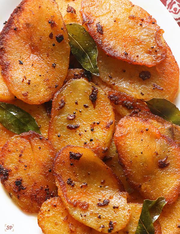 Crispy Coin Tawa Potato Fry - Easy Potato Recipes