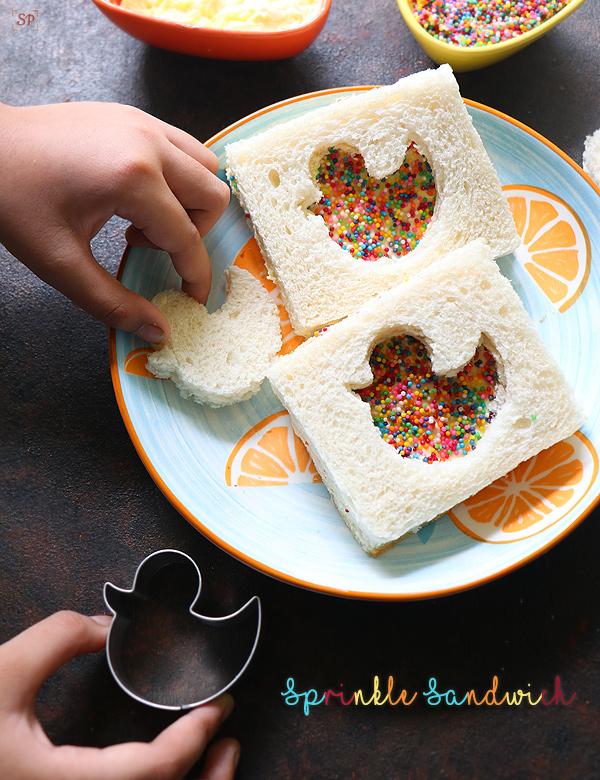fairy bread sandwiches
